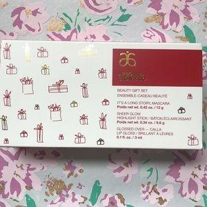 Arbonne beauty gift set -mascara, gloss, highlight